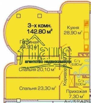 3-комн., 143 кв. м., Люстдорфская дорога, Таирова, Одесса, Киевский район