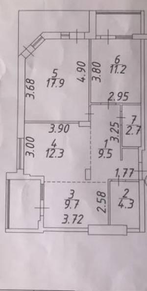 3-комн., 78 кв. м., Небесной сотни (М. Жукова пр-т), Таирова, Одесса, Киевский район