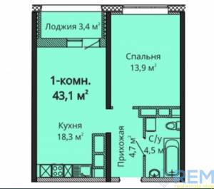 1-комн., 44 кв. м., Варненская, Черемушки, Одесса, Малиновский район