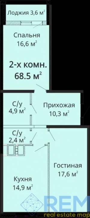2-комн., 70 кв. м., Михайловская, Молдаванка, Одесса, Малиновский район