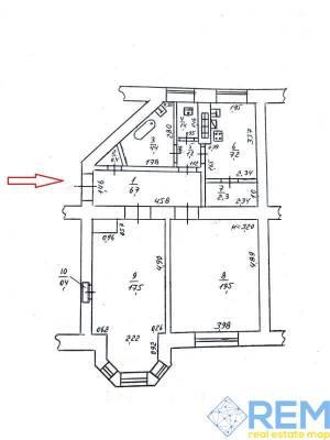 2-комн., 61 кв. м., Адмирала Лазарева, Молдаванка, Одесса, Малиновский район